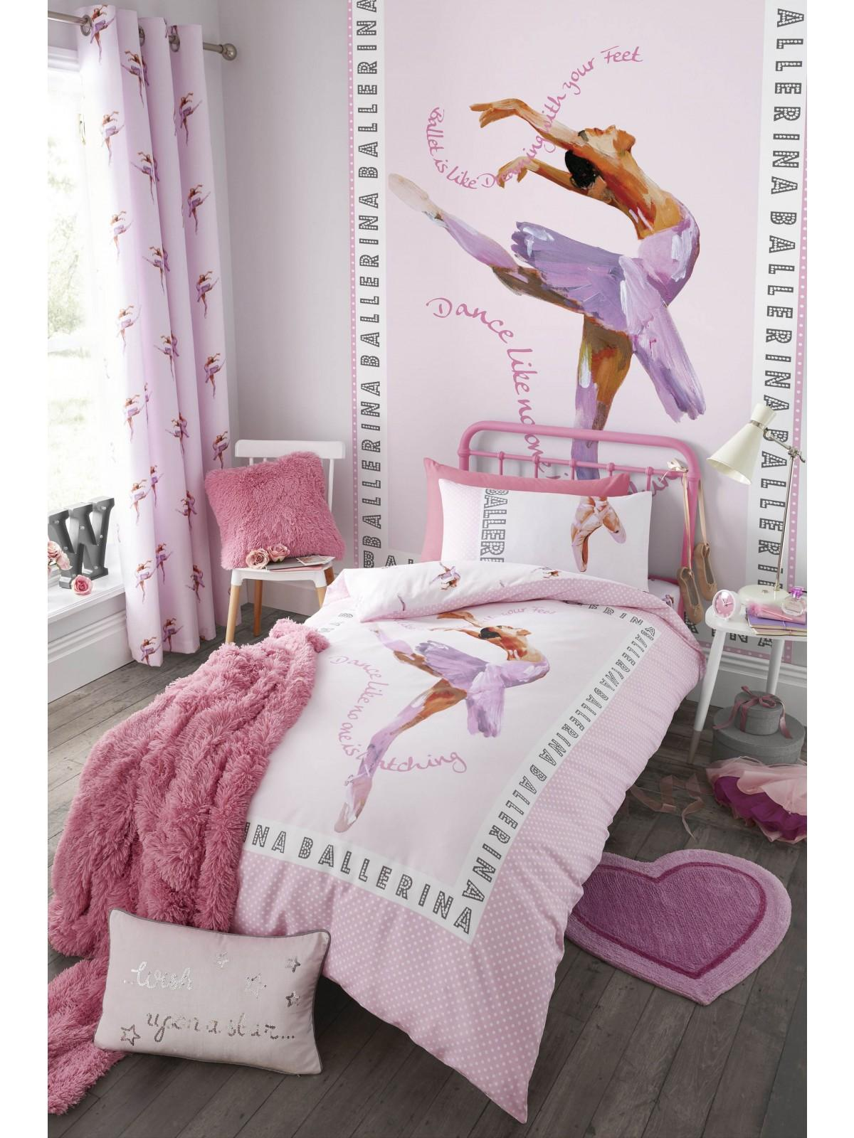 Catherine Lansfield Ballerina Bedding Collection Pink