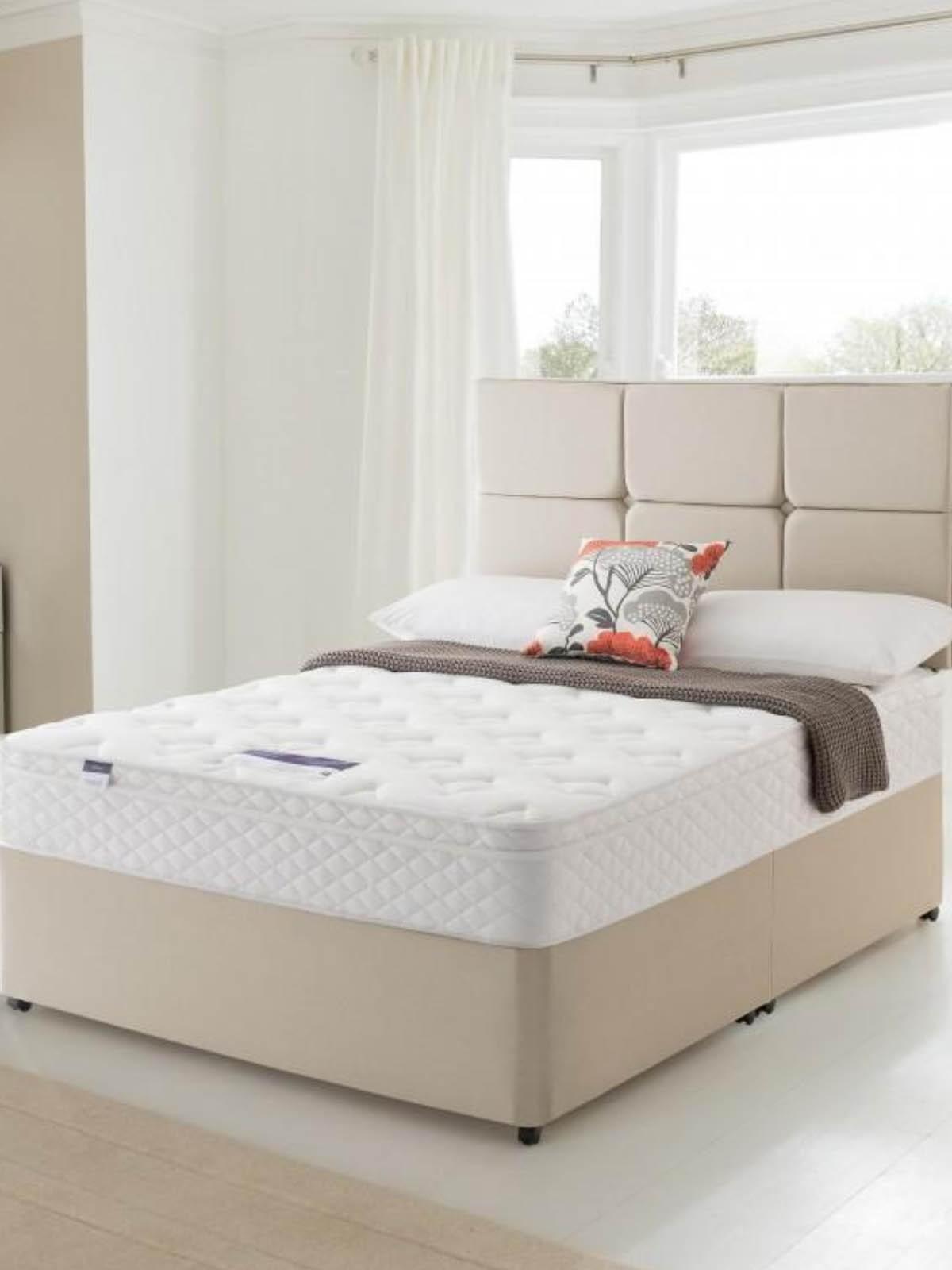 Silentnight Miracoil Memory Cushion Top Vermont Divan Bed