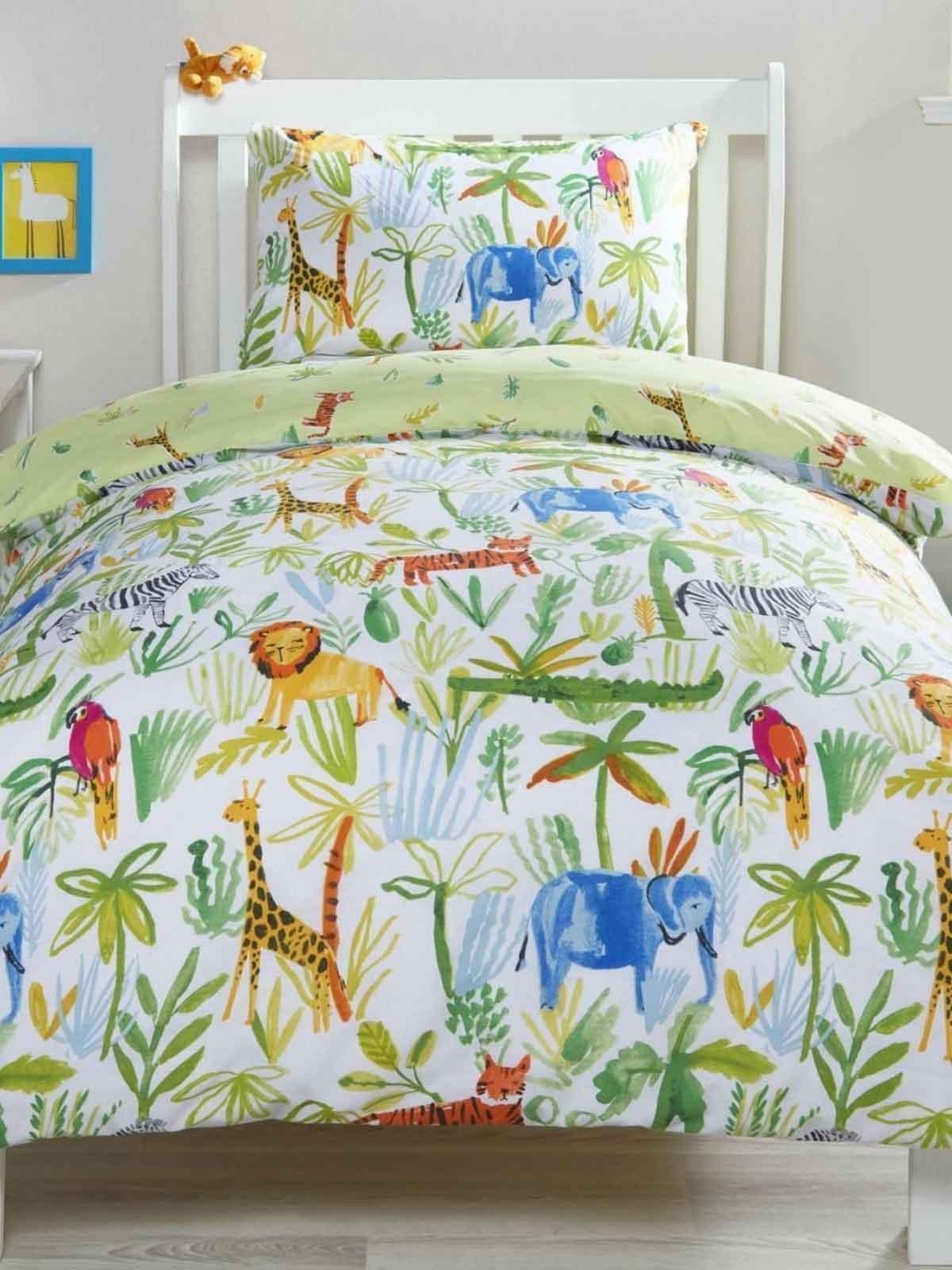 Jungle Print Kids Duvet Sets Green Ponden Home