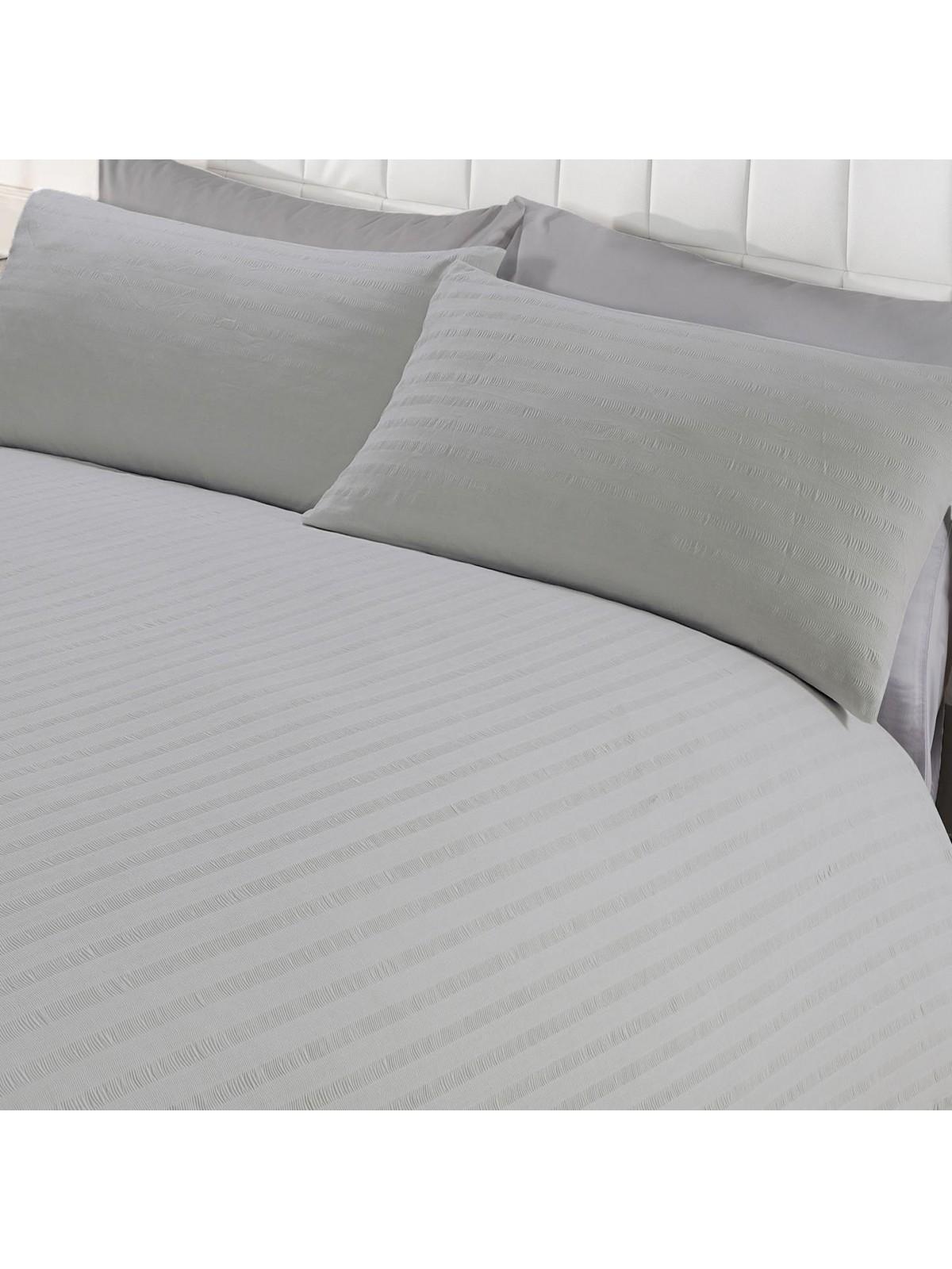 stripe duvet cover linen mill dove drapes hadlow dreams set seersucker bed blue