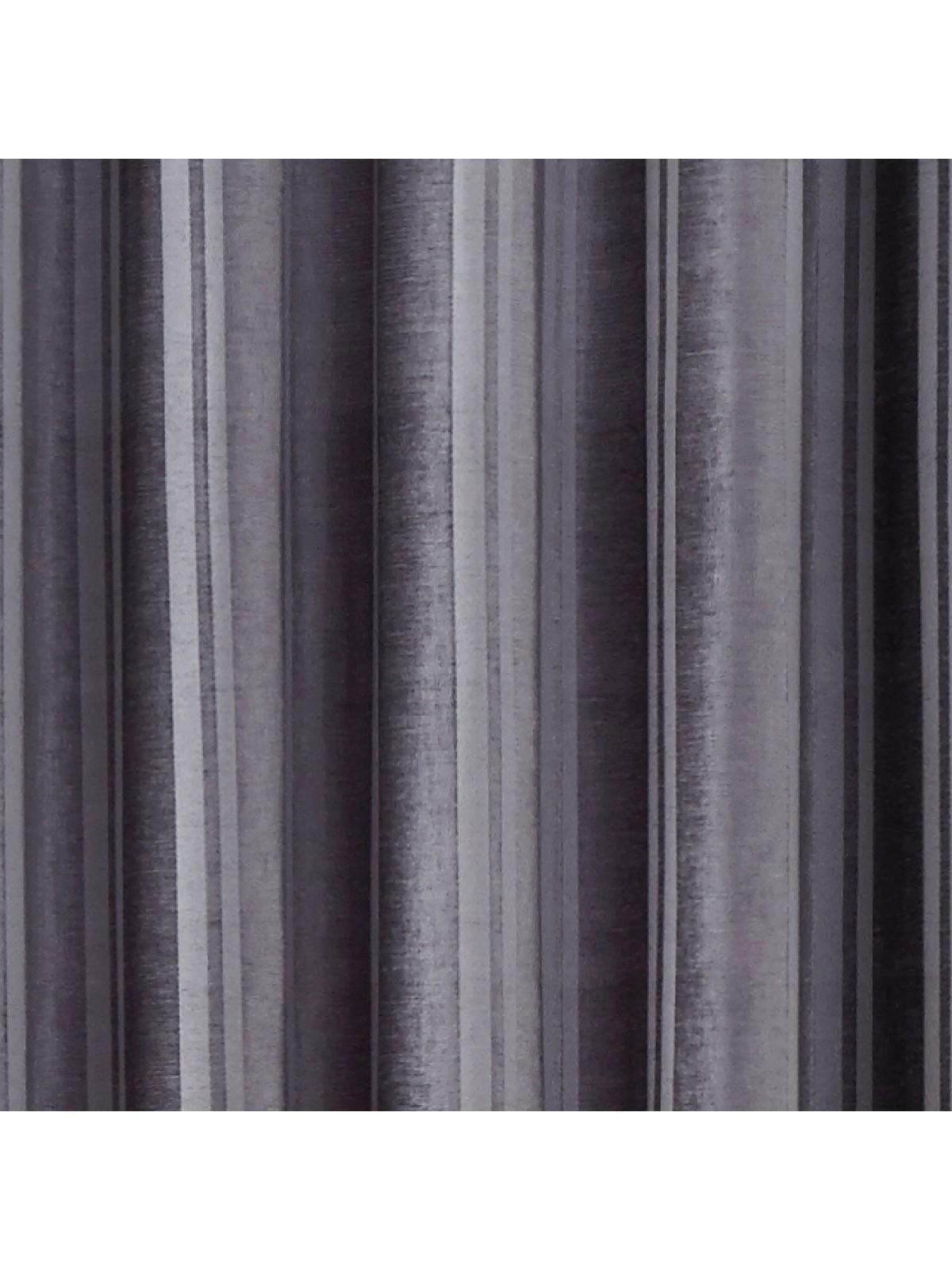 Hotel Velvet Stripe Thermal Eyelet Curtains Silver