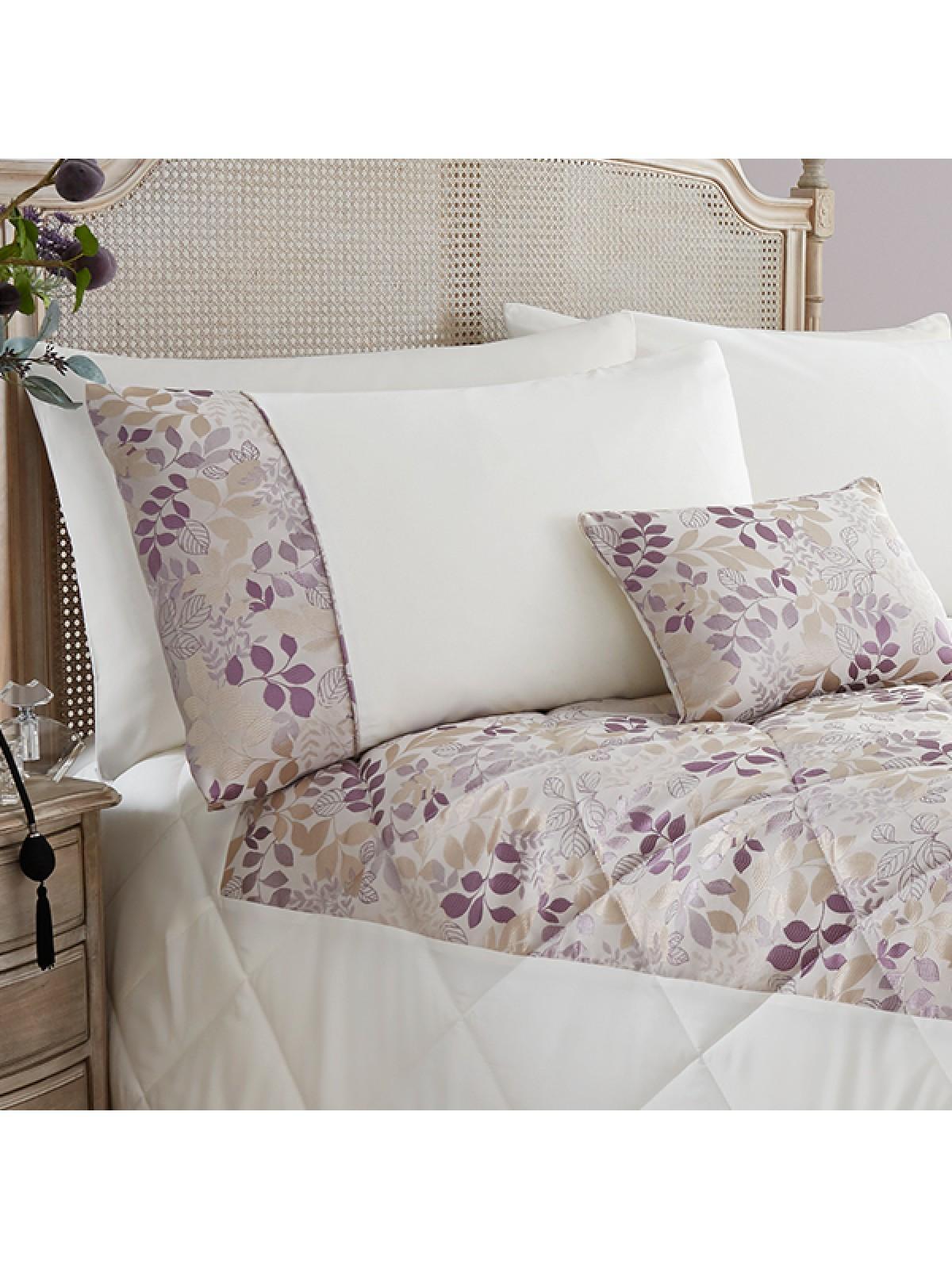 Jules Leaf Jacquard Bedspread Heather Ponden Home Bedcover Previousnext Zoom