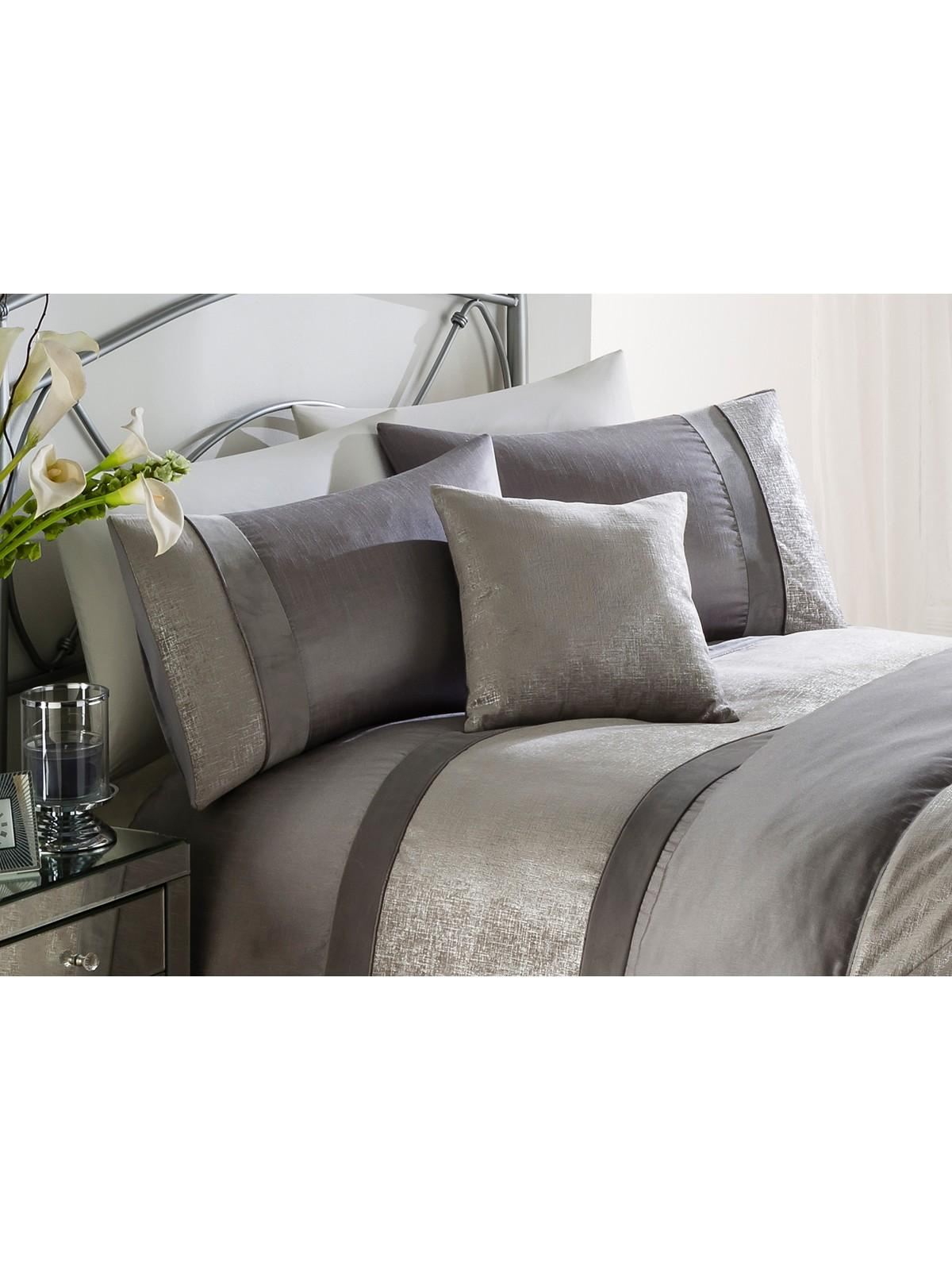 cover lavish chocolate taupe sets duvet and k piece striped home bedding p comforter metallic set king c
