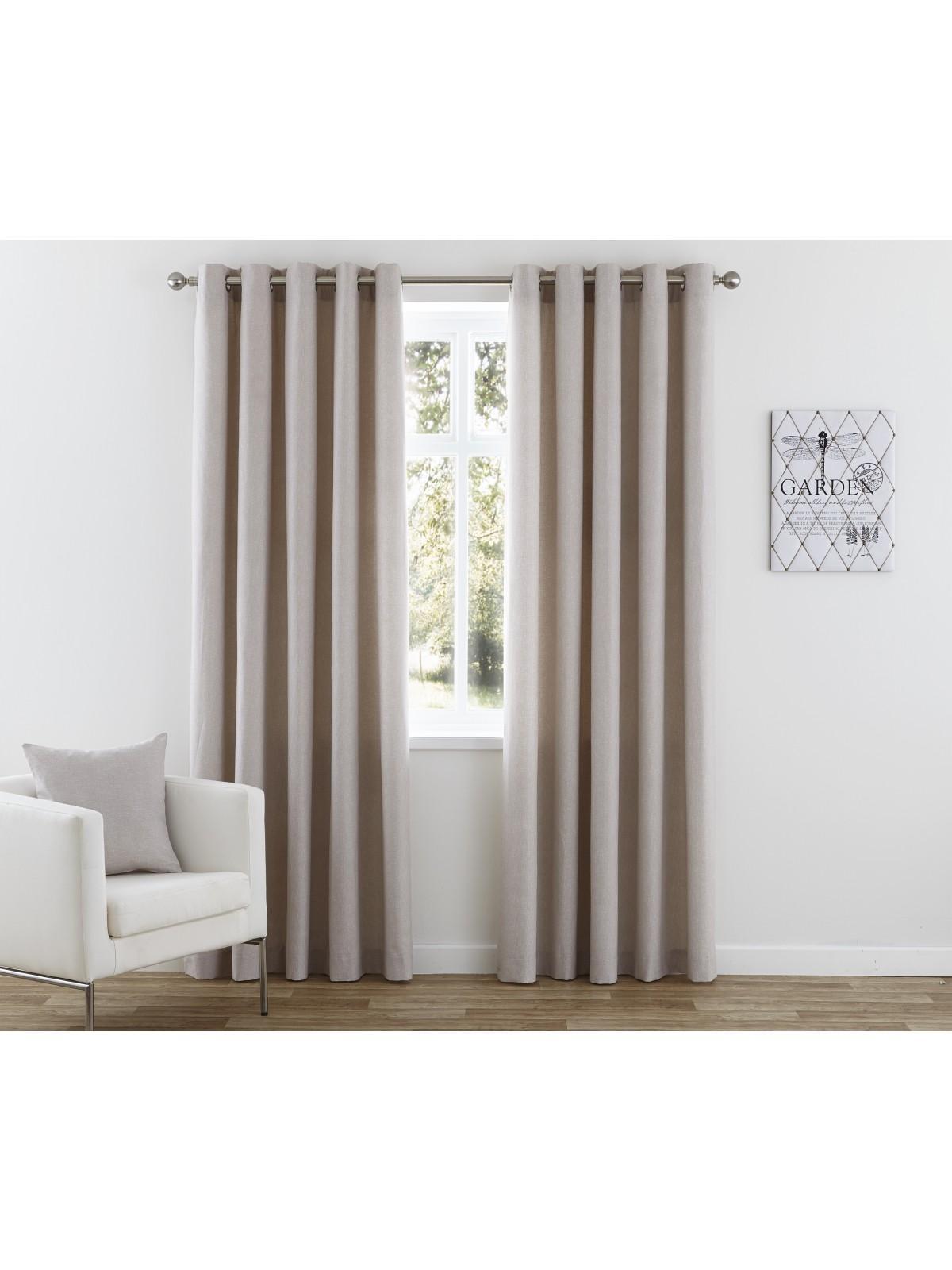 Nevada Eyelet Curtains Taupe