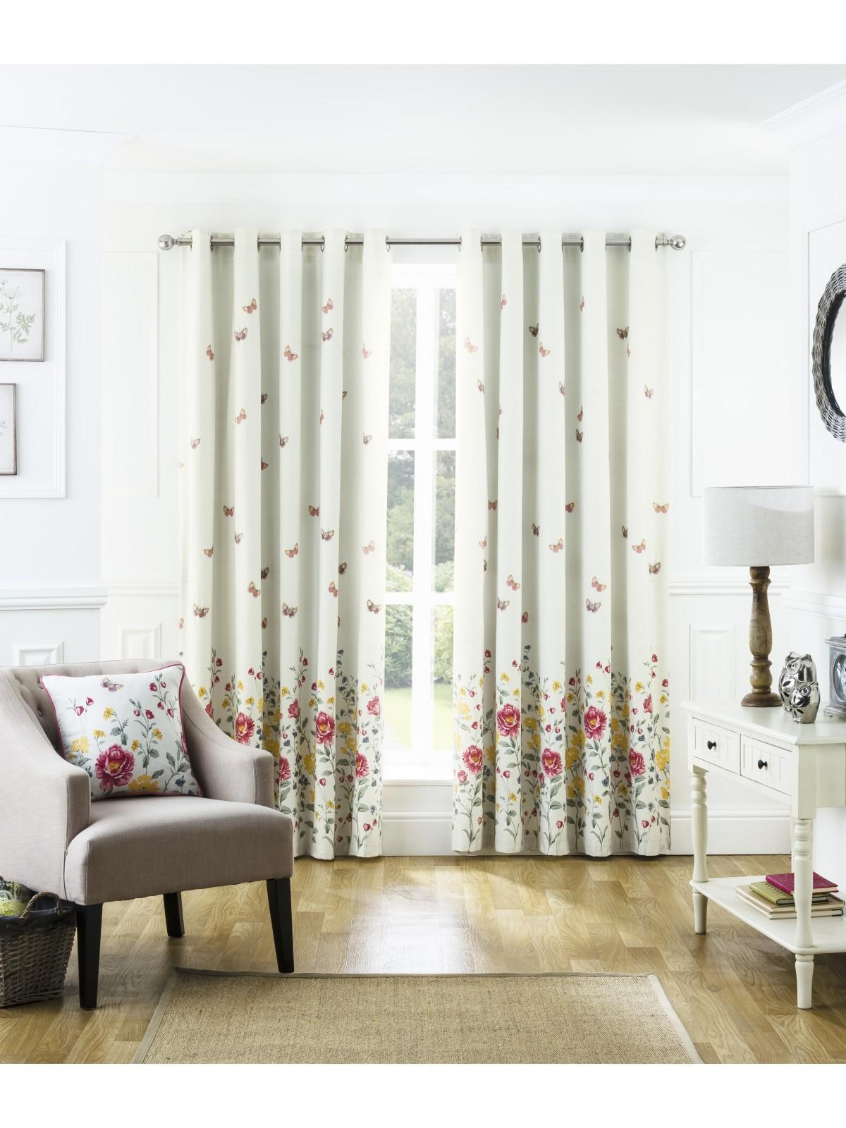 Summer Floral Trail Eyelet Curtains Multi