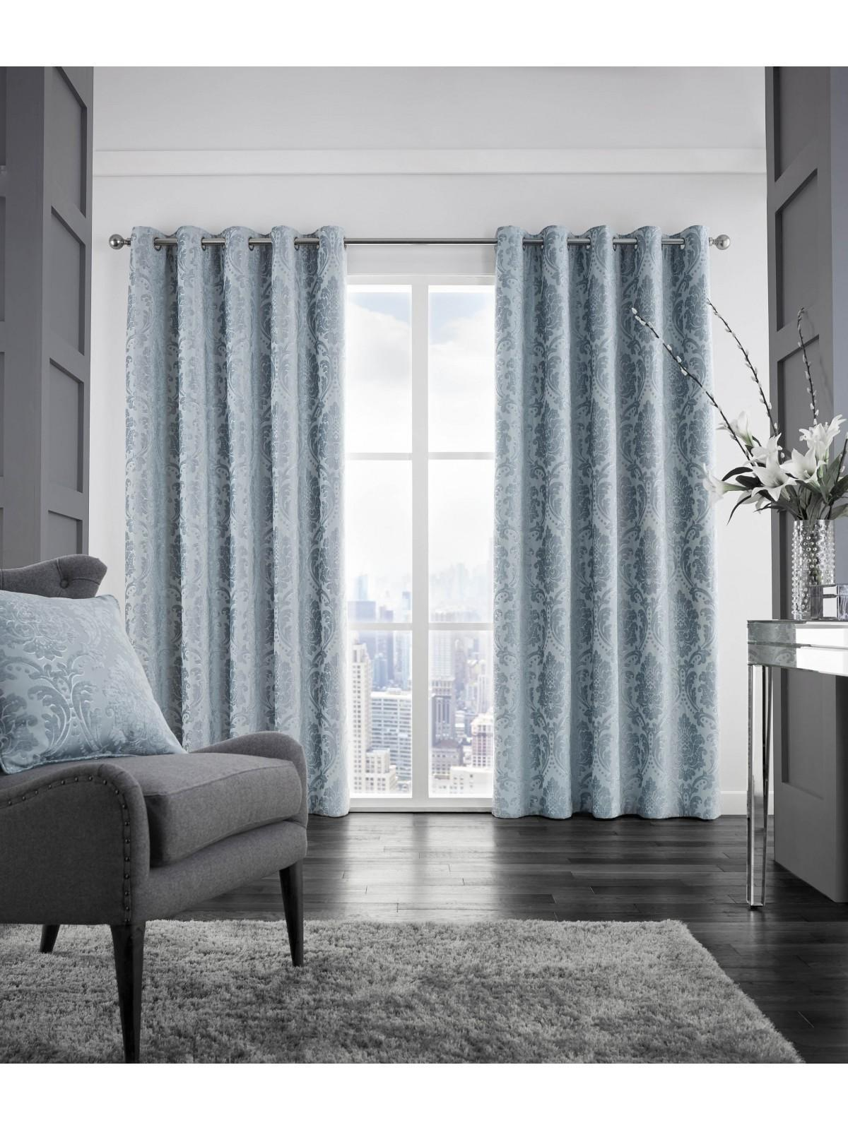 Hotel Valencia Thermal Eyelet Curtains Duck Egg ...