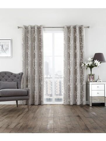 Valencia Eyelet Curtains Champagne