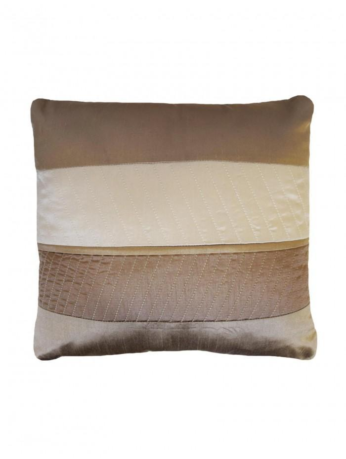 Manhattan Quilted Panel Cushion Taupe