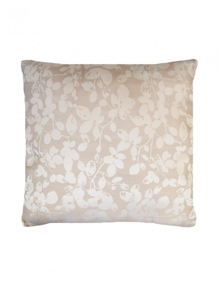 Leaf Trail Jacquard Cushion Natural