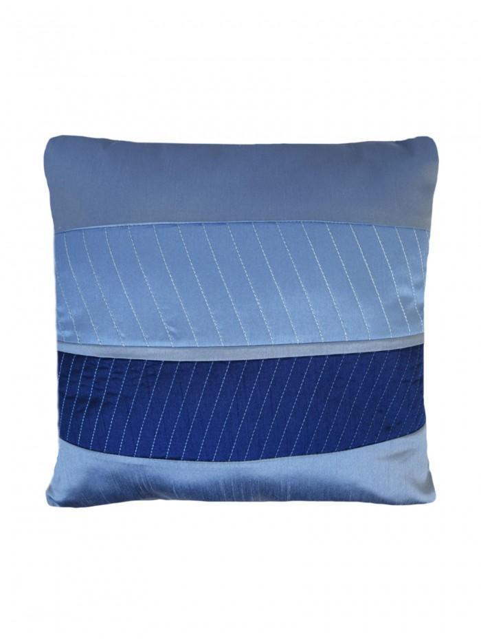 Manhattan Quilted Panel Cushion Blue