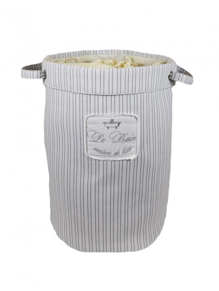 Vintage Stripe Laundry Bag Grey