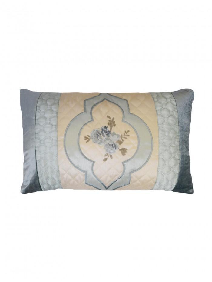 Cameo Quilted Cuff Cushion Duck Egg