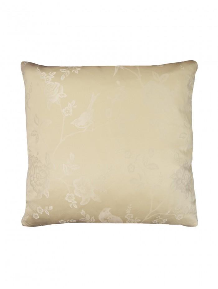 Genevieve Floral Jacquard Cushion Natural
