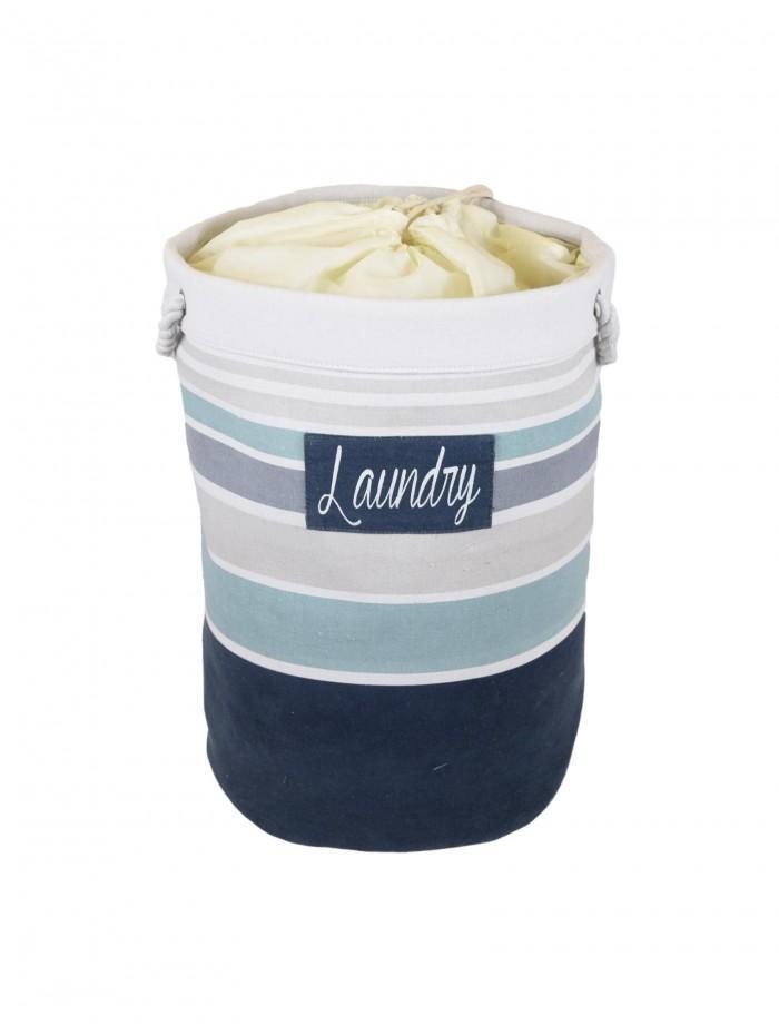 Nautical Laundry Bag Blue