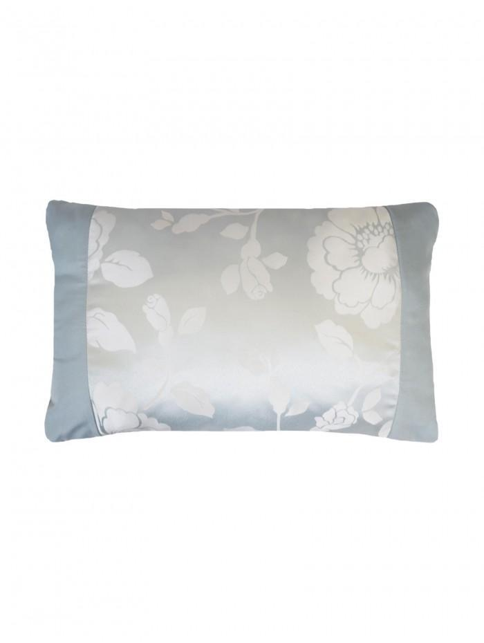 Penelope Jacquard Panel Cushion Duck Egg