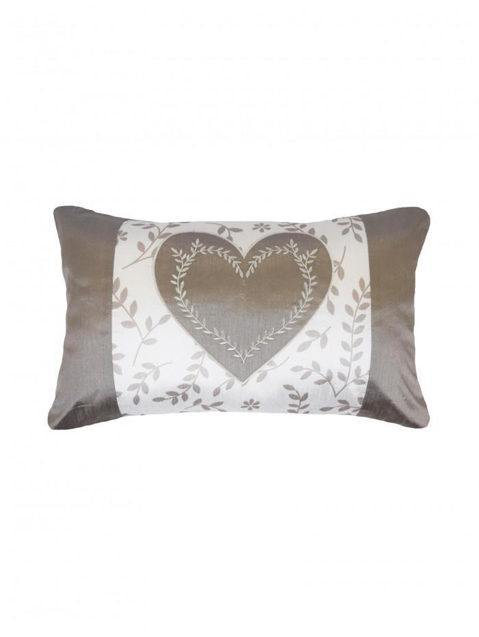 Botanical Heart Panel Cushion Cream