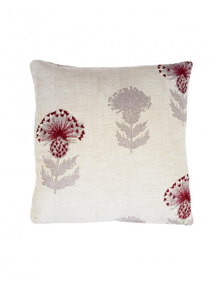 Thistle Cushion Red