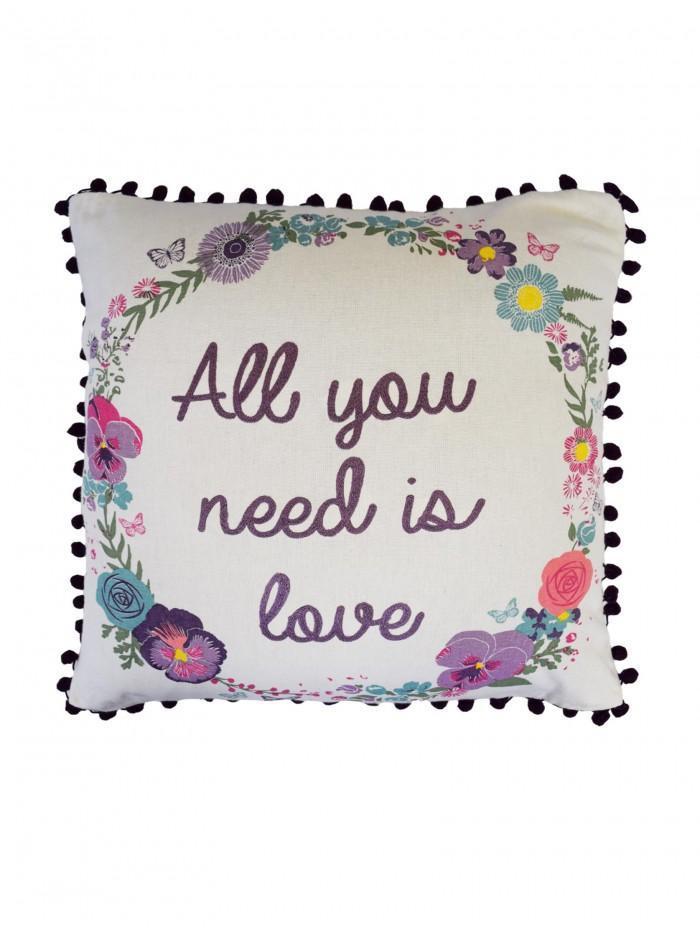 All You Need Is Love Cushion Purple