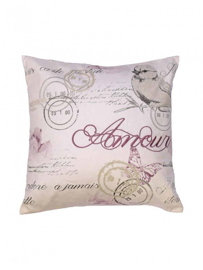 Amour Rose Printed Cushion Pink