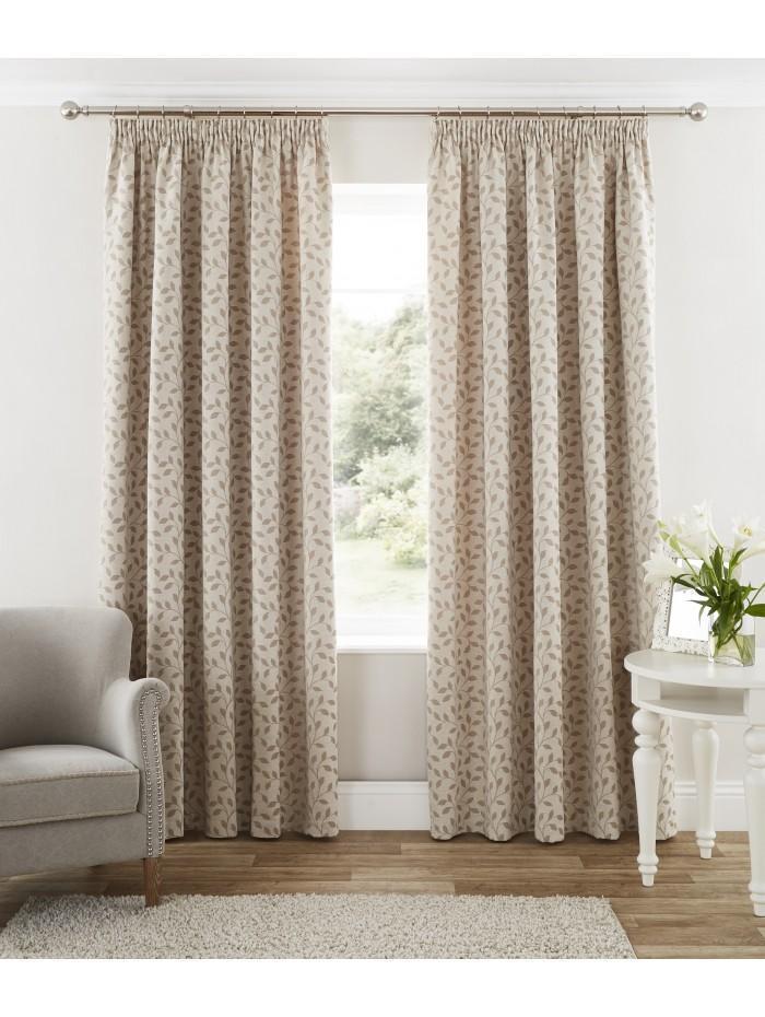 Arundel Pencil Pleat Curtains Natural