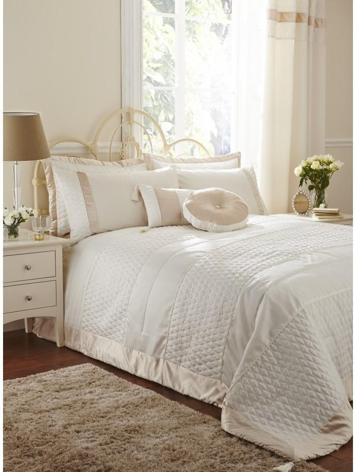 Aston Quilted Bedspread Cream