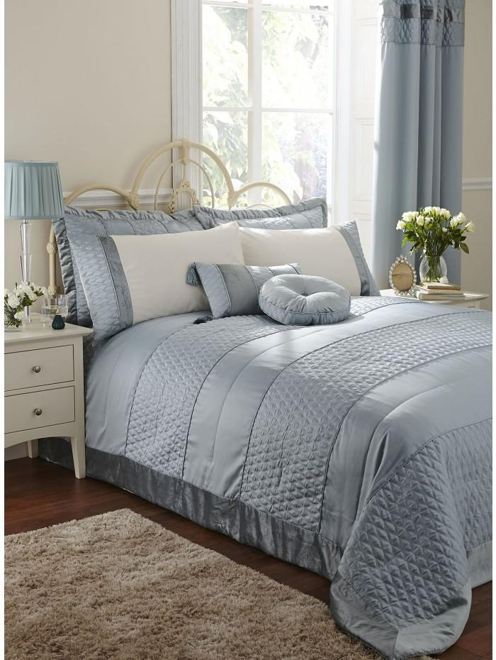 Aston Quilted Bedspread Duckegg