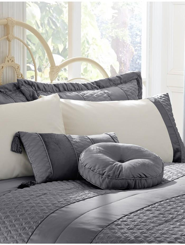 Aston Quilted Cushion Charcoal