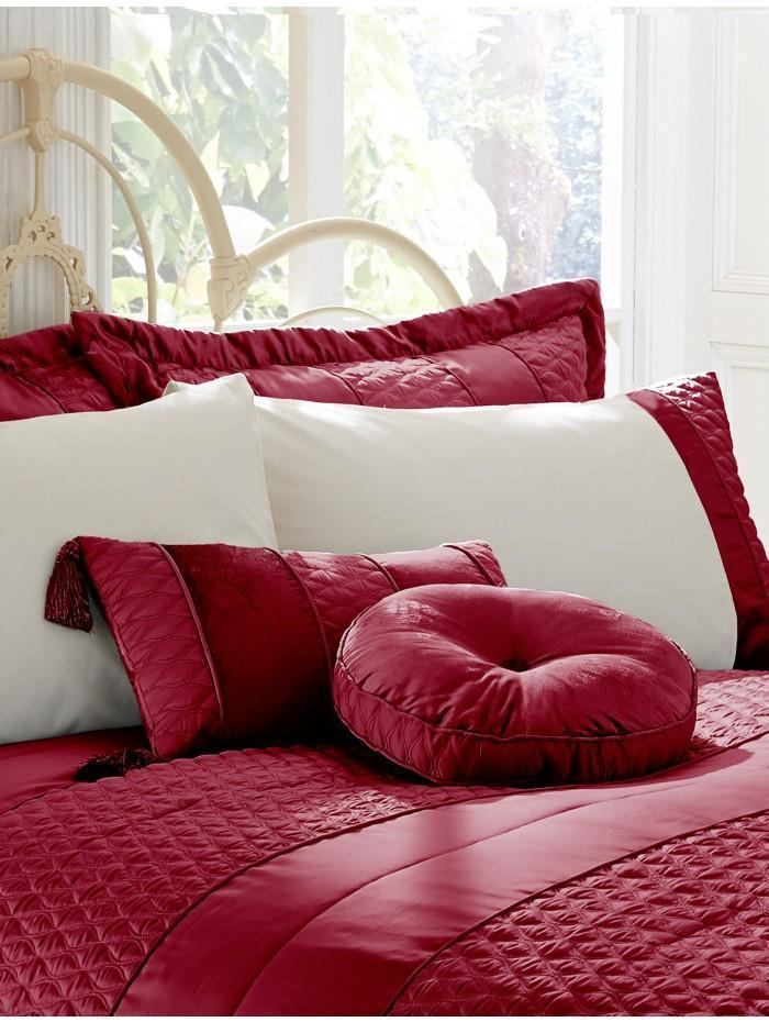 Aston Quilted Cushion Claret