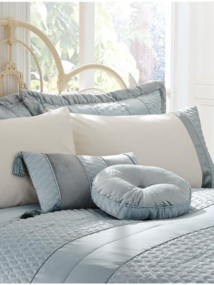 Aston Quilted Cushion  Duckegg