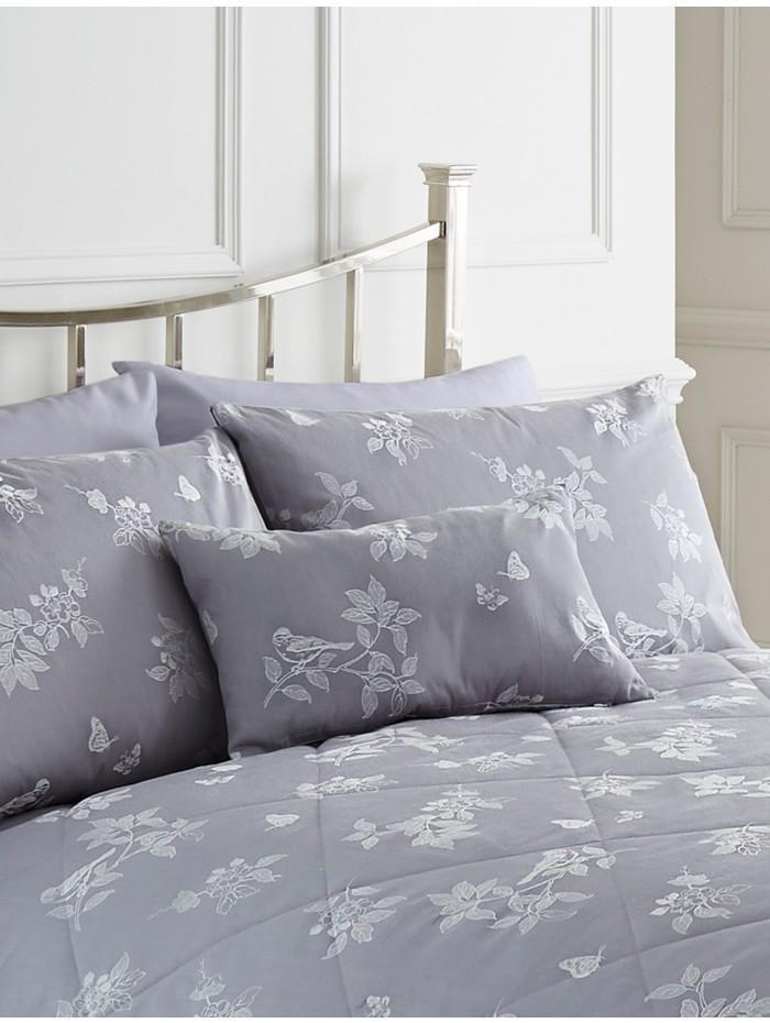 Aviary Jacquard Cushion  Grey
