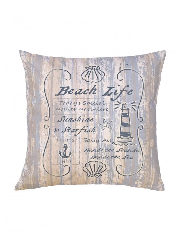 Beach Life Cushion Blue
