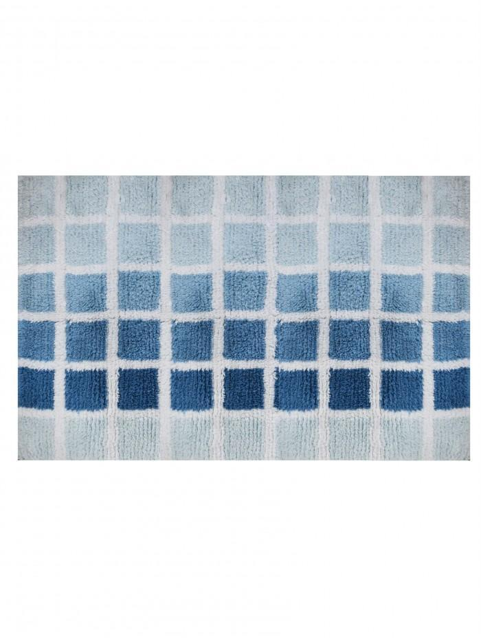 Life From Coloroll Check Bathmat, Blue