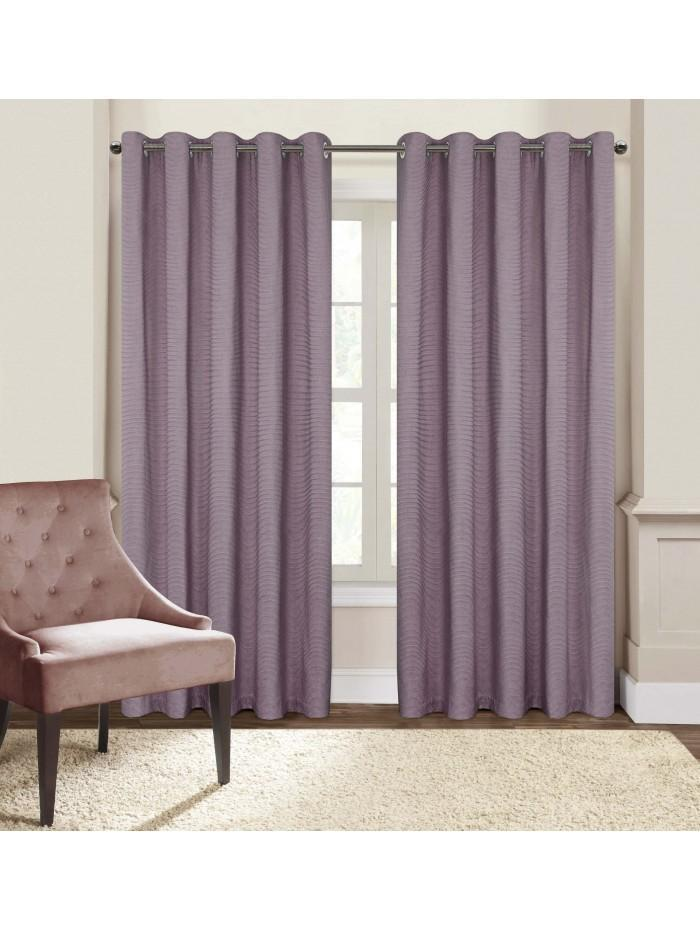 Boston Eyelet Curtains Heather