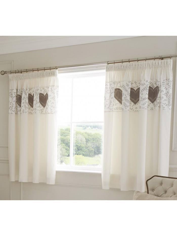 Botanical Heart Panel Curtain Cream