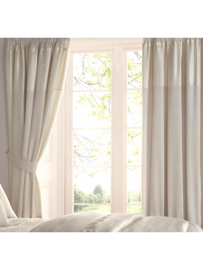 Jeff Banks Celia Jacquard Curtain Cream