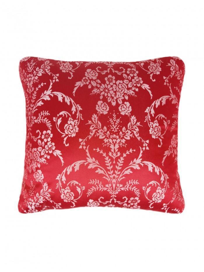 Chain Damask Cushion Red