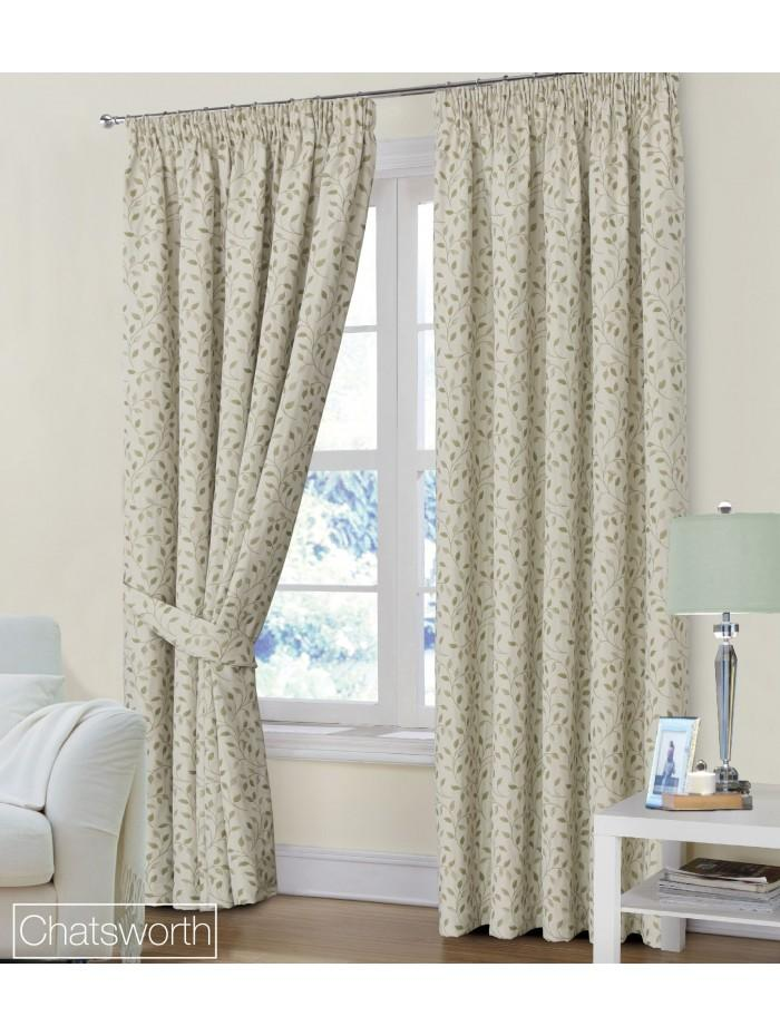 Chatsworth Pencil Pleat Curtains Natural