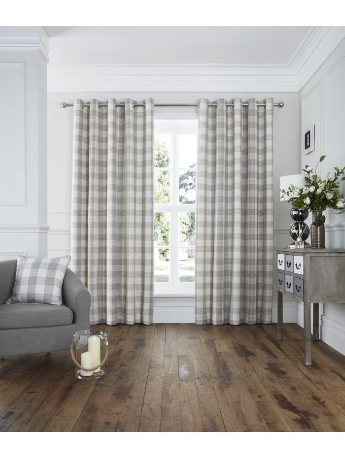 Chester Eyelet Curtains Natural