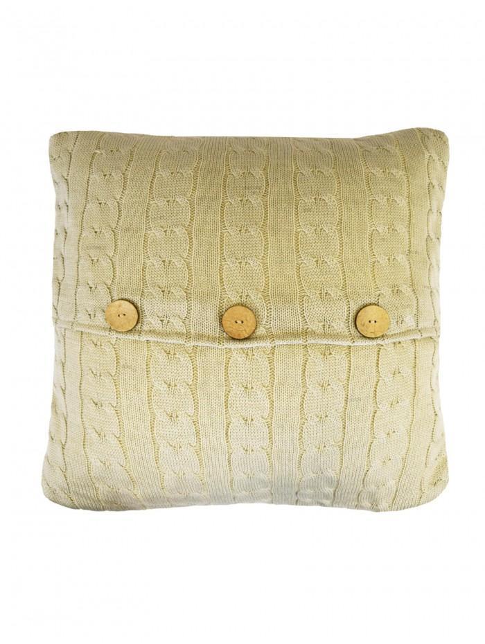 Chunky Knit Cushion Natural
