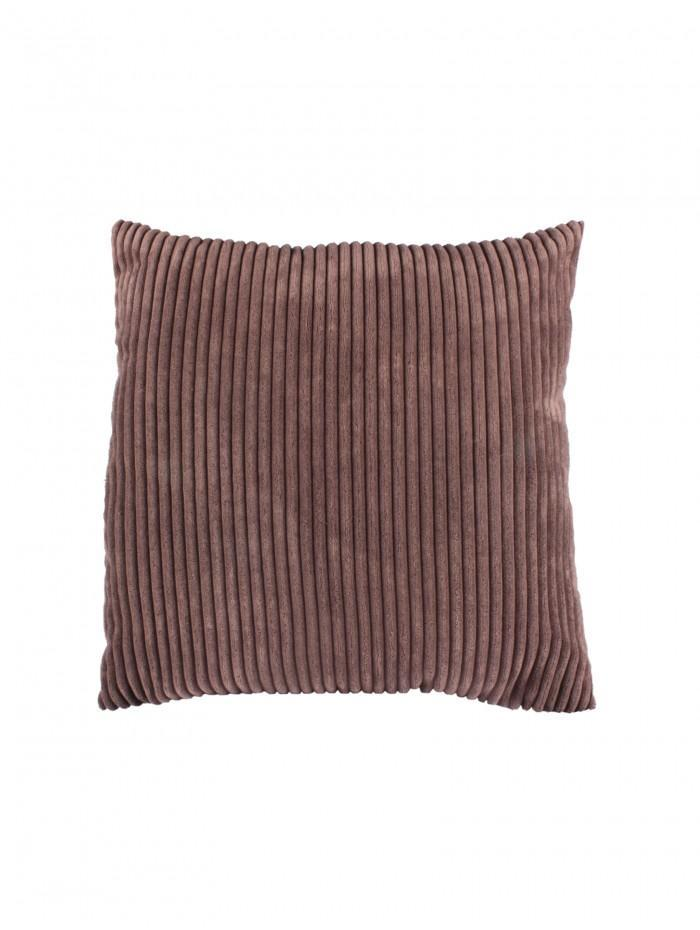 Chunky Rib Cushion Brown