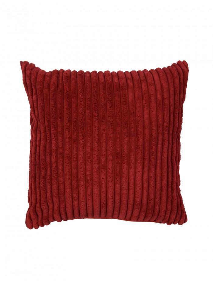 Chunky Rib Cushion Red