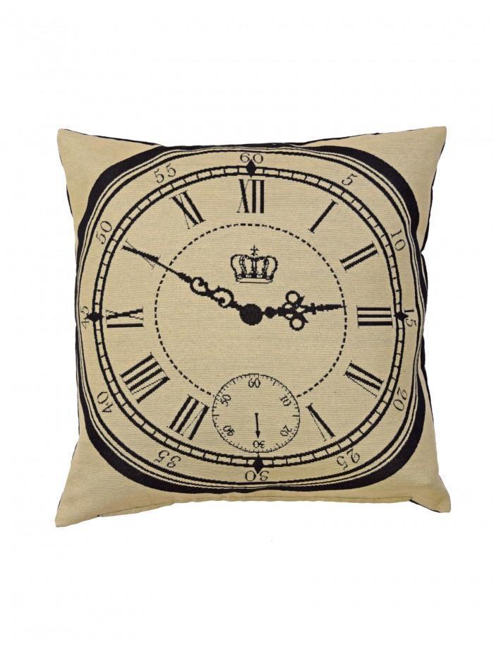 Clock Cushion Black