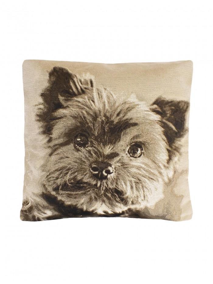 Cute Puppy Cushion Natural