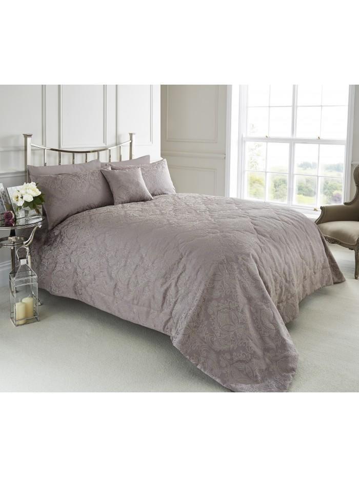 Damask Jacquard Bedspread Pink