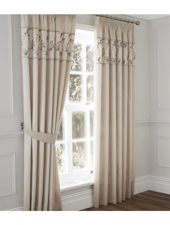Delicate Flower Curtain  Natural