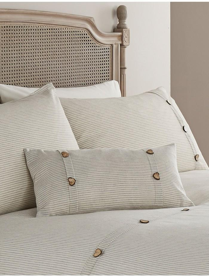 Traditions of Britain Denver Stripe Cushion Natural