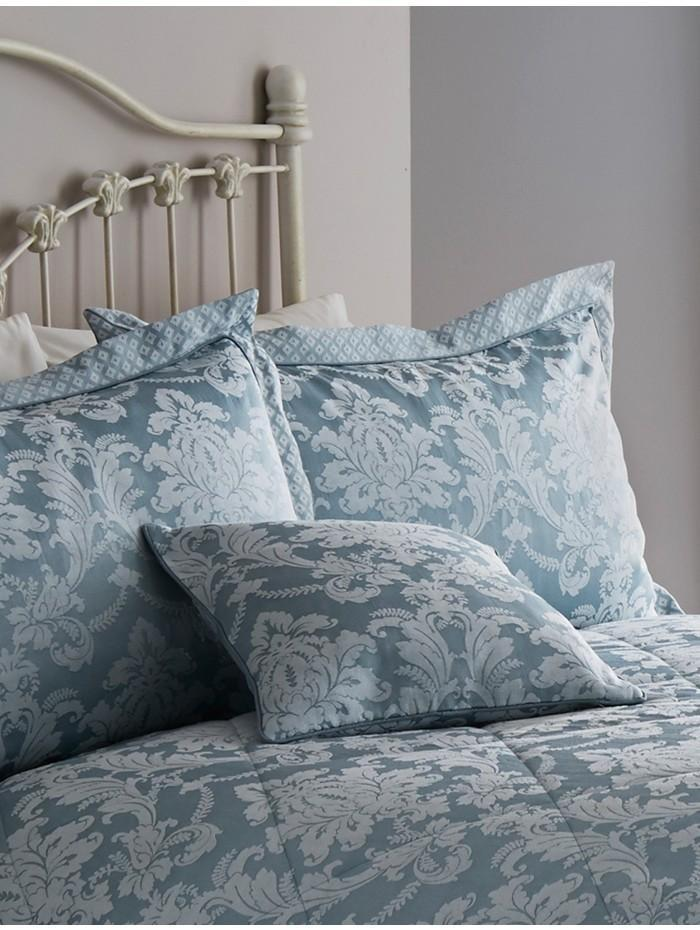 Diamond Damask Cushion Duckegg
