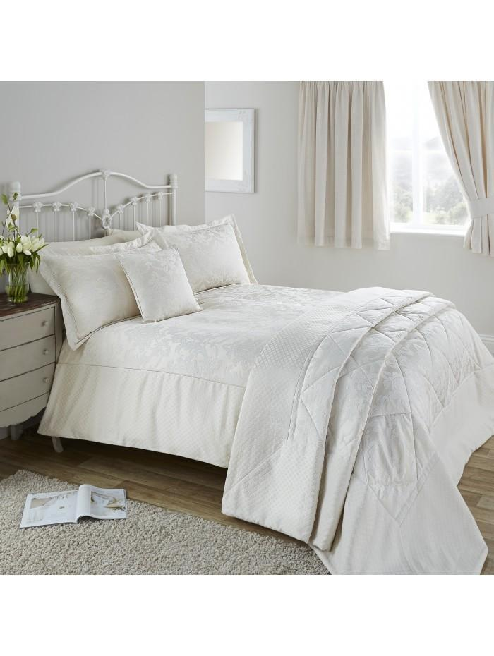 Diamond Damask Duvet Set Natural