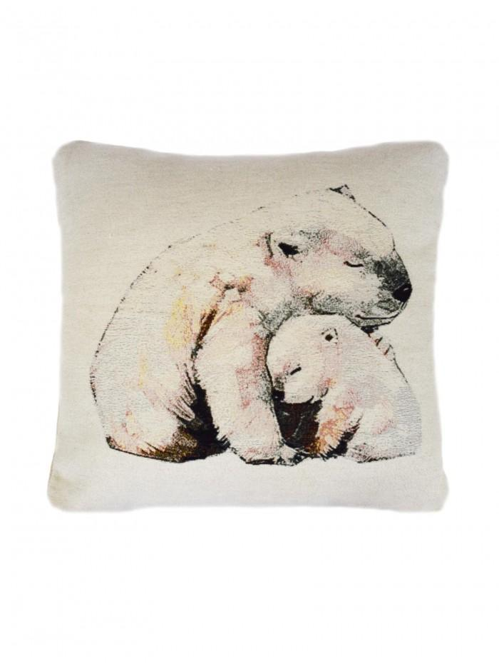 Polar Bear Cushion White