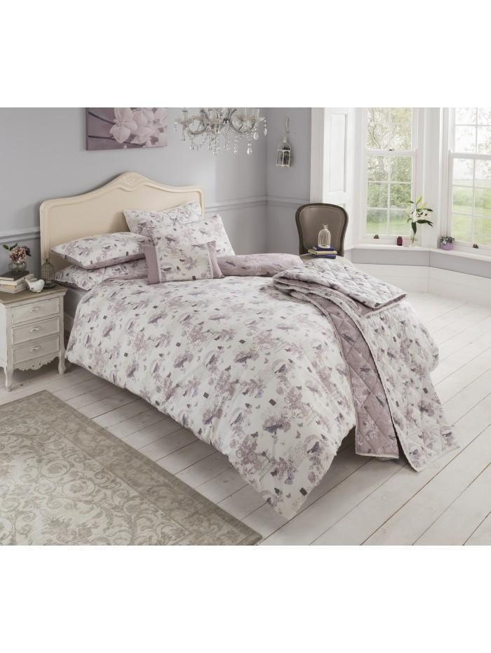 Enchantment Printed Bedspread Heather